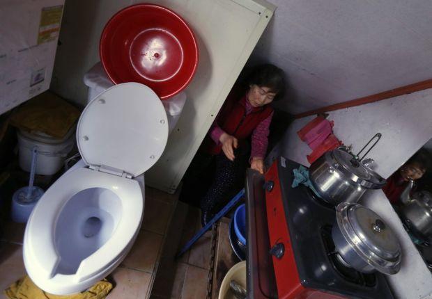 Cele mai mici apartamente din lume - Coreea de Sud toaleta