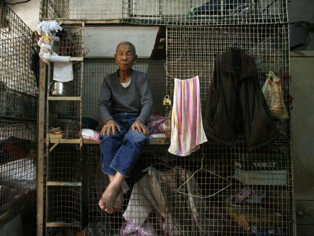 Cele mai mici apartamente din lume - Hong Kong custi 2