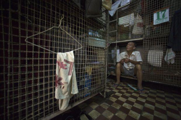 Cele mai mici apartamente din lume - Hong Kong custi
