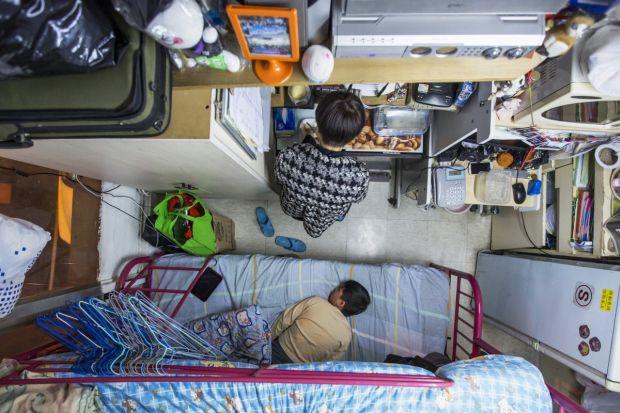 Cele mai mici apartamente din lume - Hong Kong