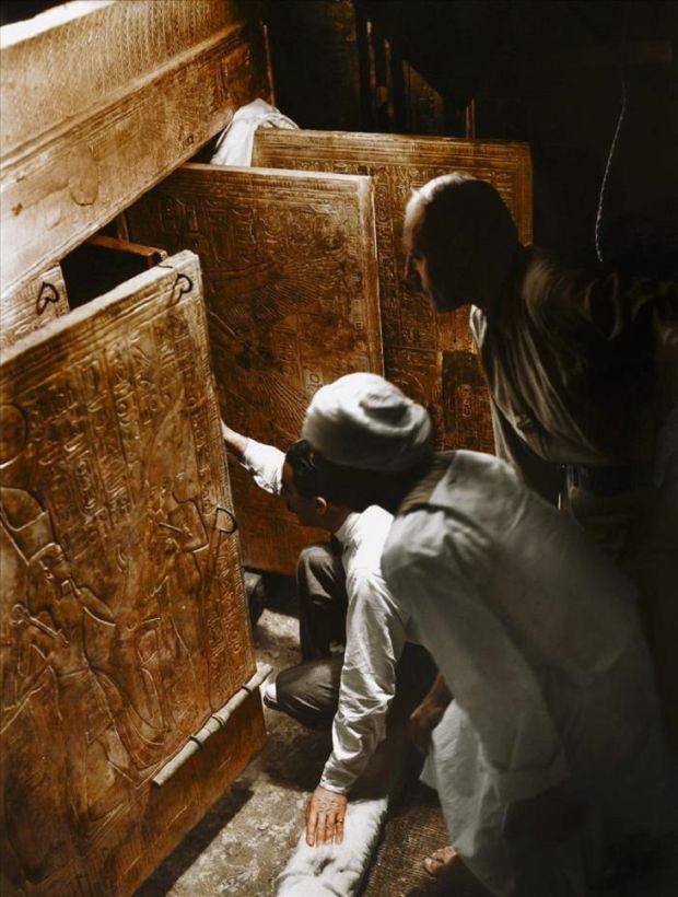 Tutankhamon Cercetari la fata locului