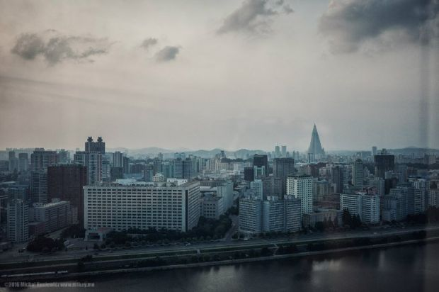 Coreea de Nord - vedere din hotel
