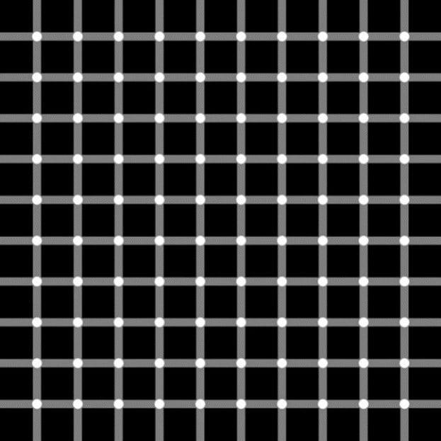 Iluzii optice - Puncte inexistente