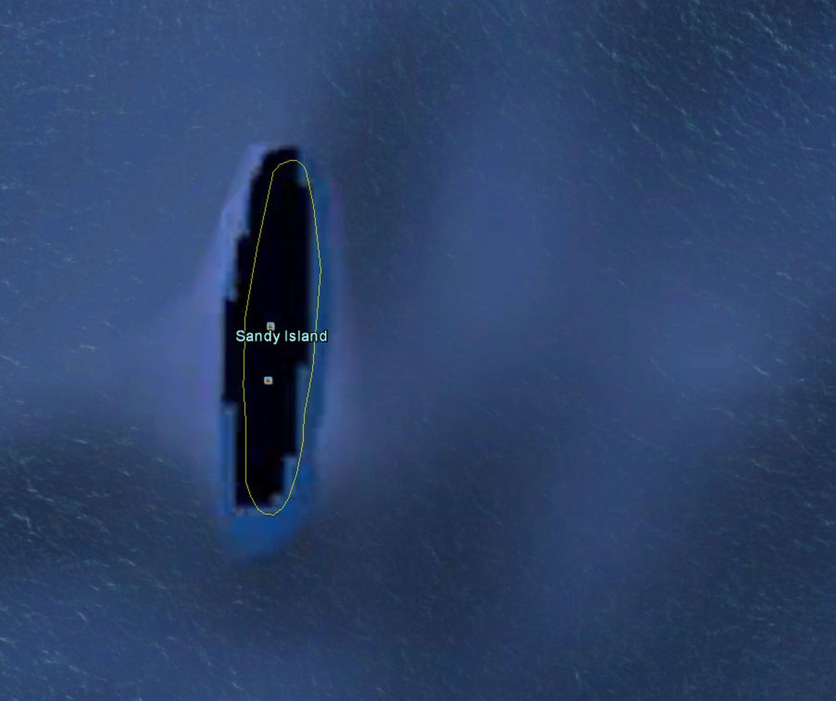 Google Earth - insula-sandy