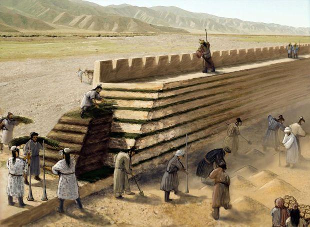 Marele Zid Chinezesc - Muncitori santier