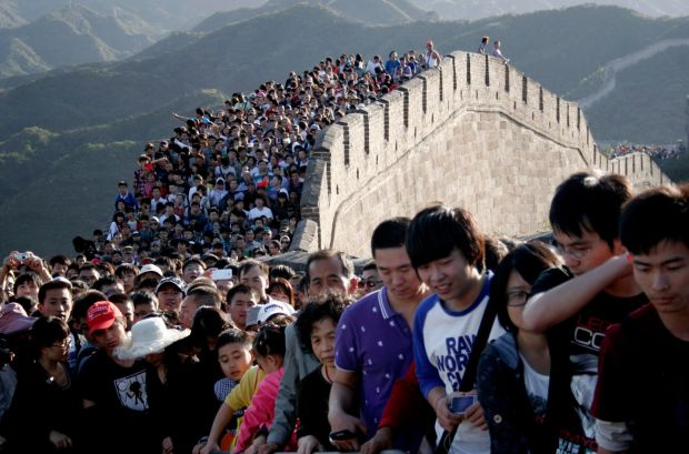 Marele Zid Chinezesc - Turisti