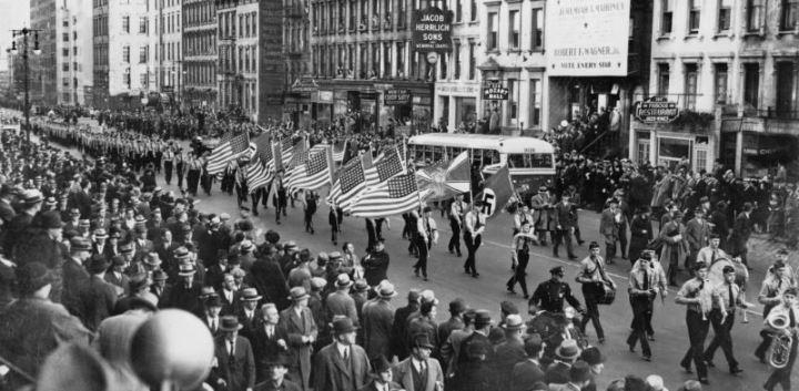 Miting nazist New York