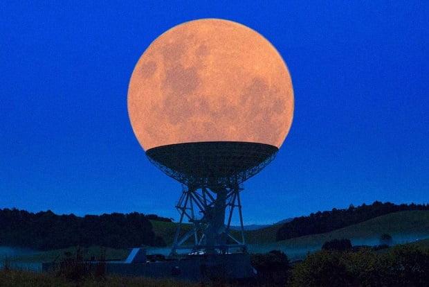 Poze frumoase - Super Luna