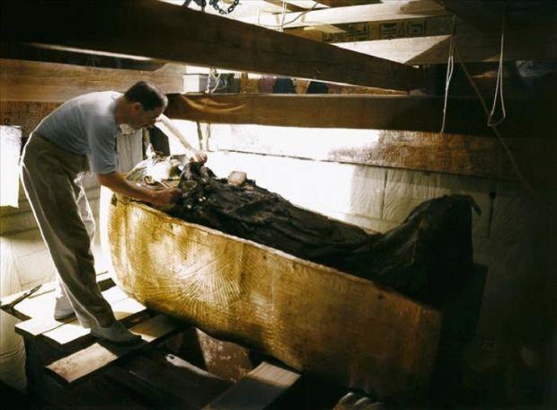 Tutankhamon Studiu sarcofag