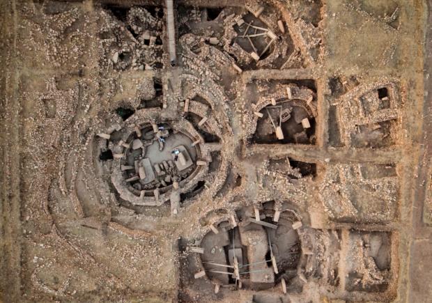 gobekli tepe din turcia, harta din avion